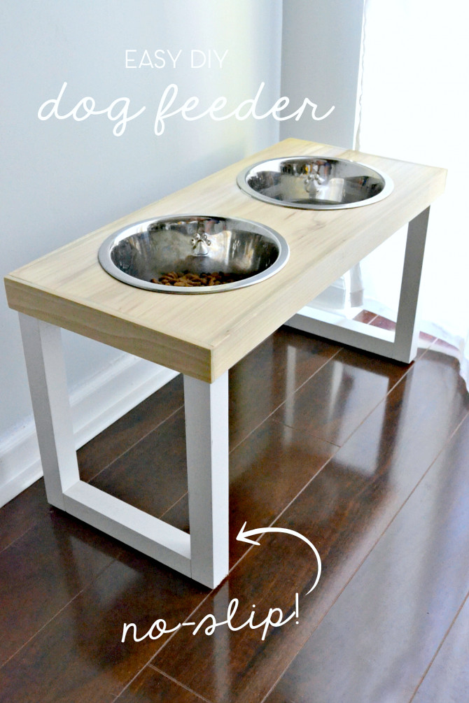 Best ideas about Dog Bowl Stand DIY . Save or Pin DIY No Slip Dog Feeder – The Ugly Duckling House Now.