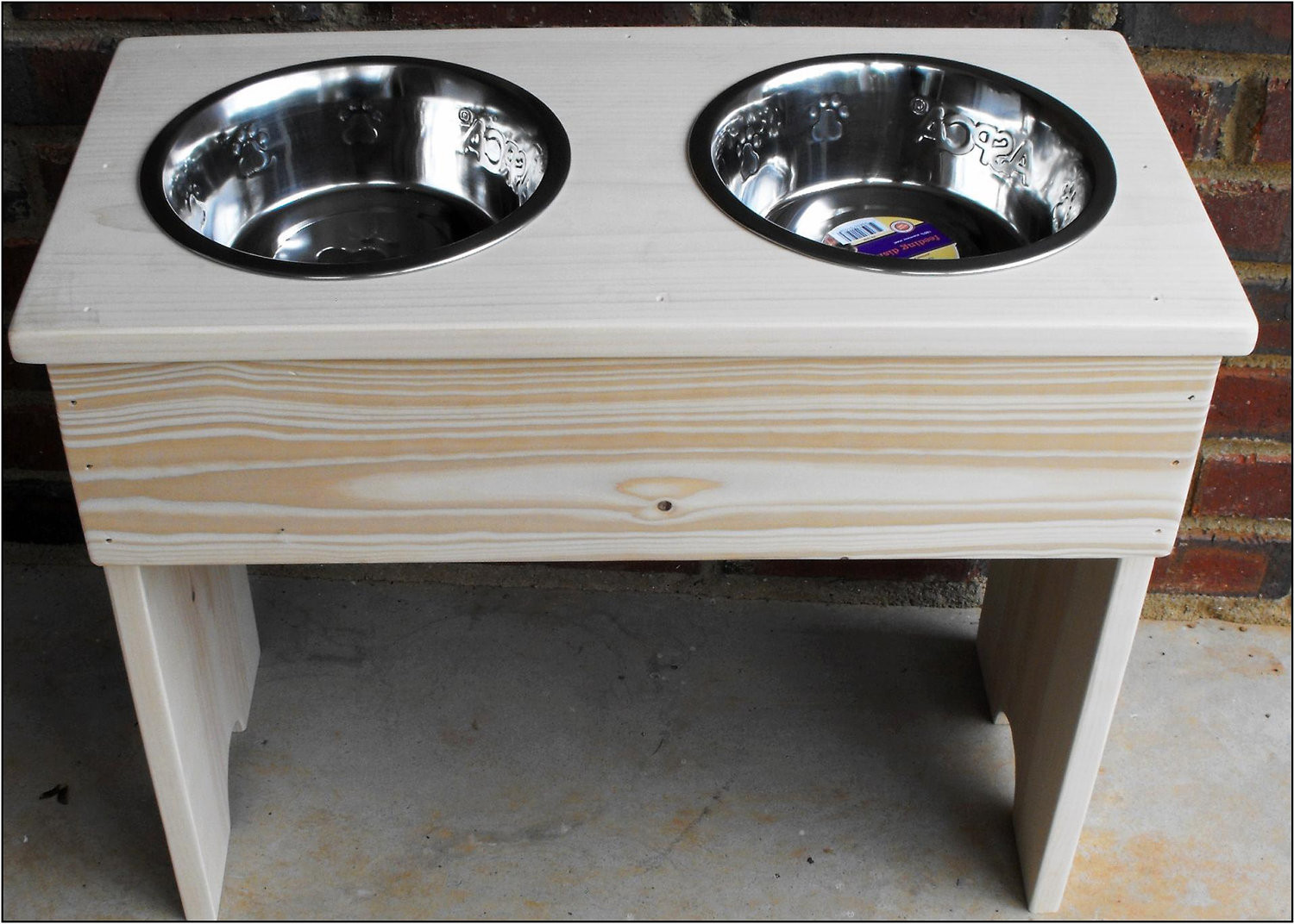 Best ideas about Dog Bowl Stand DIY . Save or Pin Items similar to Raised Dog Bowl Stand Naked DIY Finish Now.