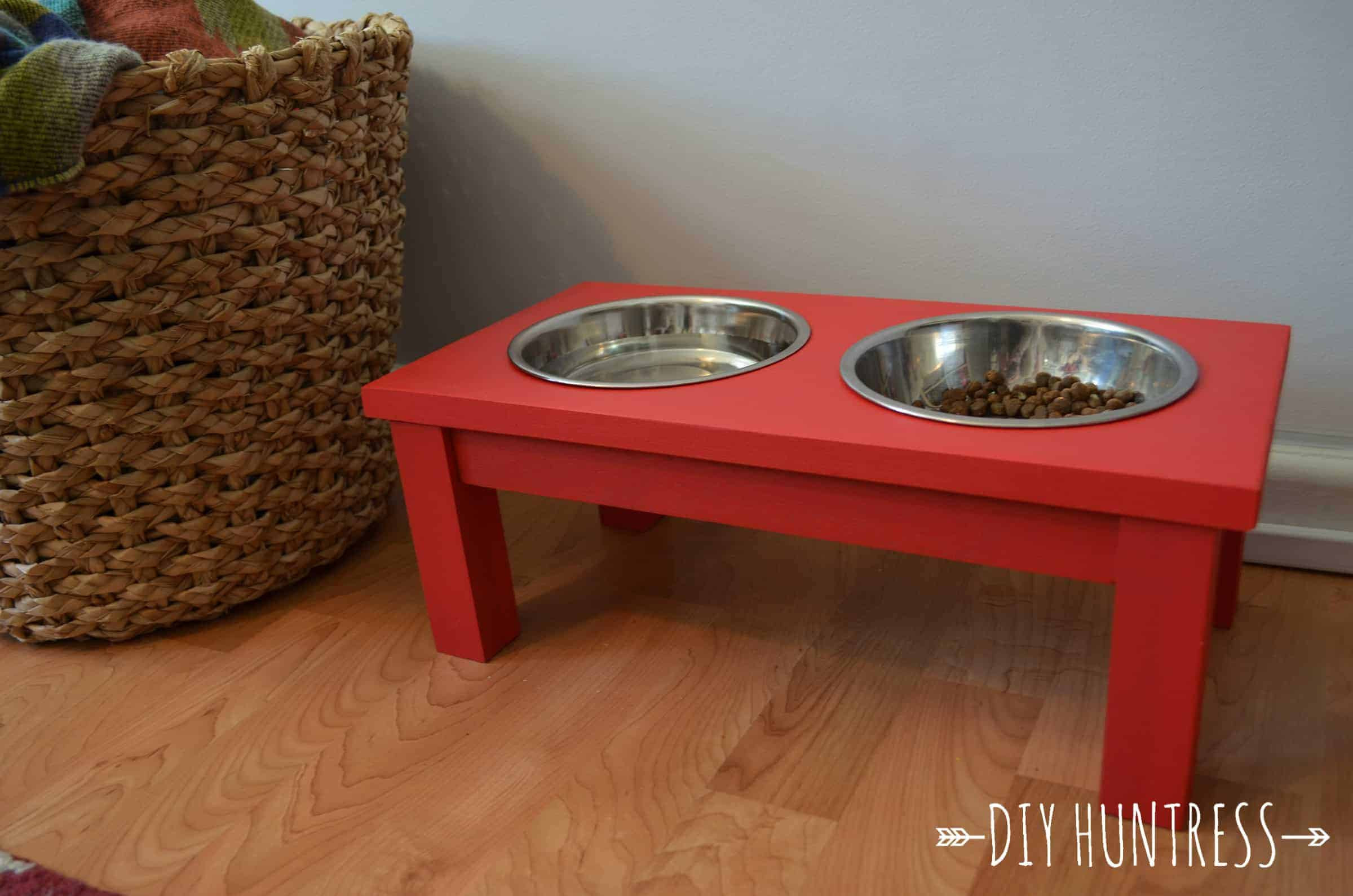 Best ideas about Dog Bowl Stand DIY . Save or Pin DIY Dog Bowl Stand DIY Huntress Now.