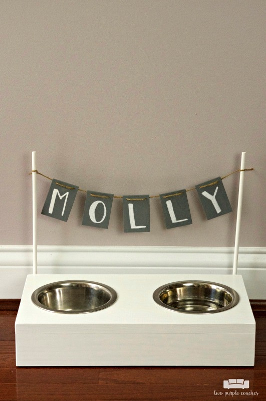 Best ideas about Dog Bowl Stand DIY . Save or Pin DIY Dog Bowl Stand two purple couches Now.
