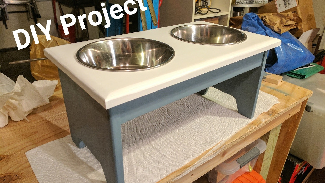 Best ideas about Dog Bowl Stand DIY . Save or Pin DIY Building a Dog Bowl Stand Now.