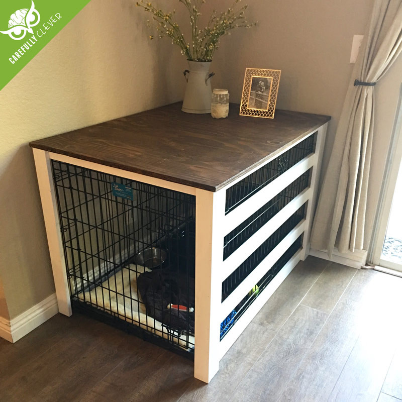 Best ideas about Dog Crate Furniture DIY . Save or Pin DIY Dog Crate Cover Now.
