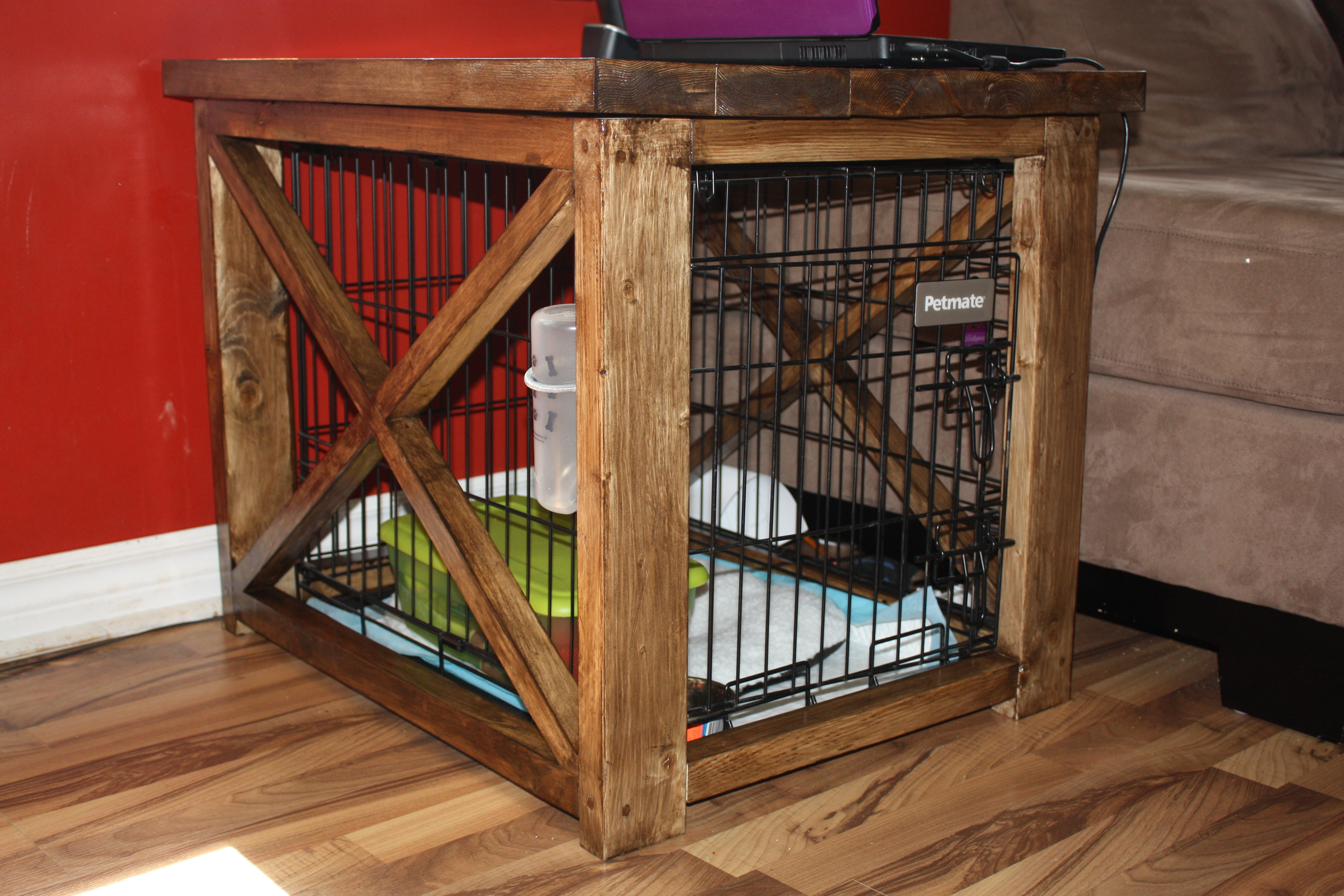 Best ideas about Dog Crate Furniture DIY . Save or Pin Ana White Now.