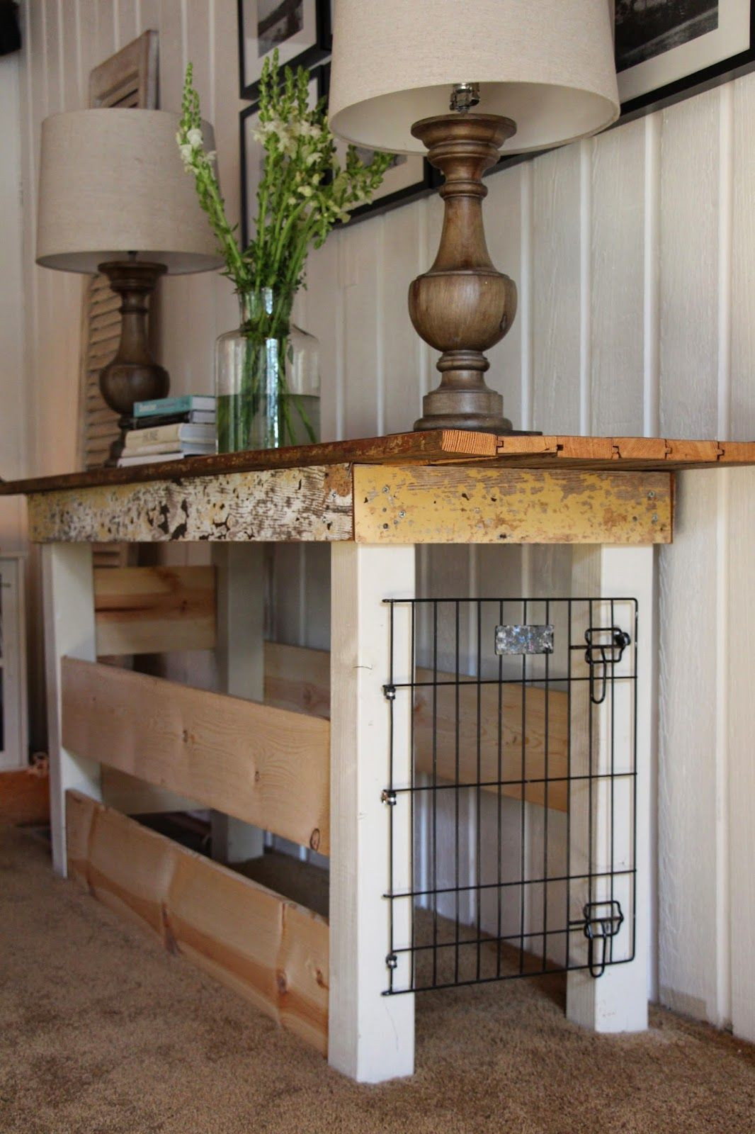 Best ideas about Dog Crate Furniture DIY . Save or Pin Great idea for a dog crate I would probably make it look Now.