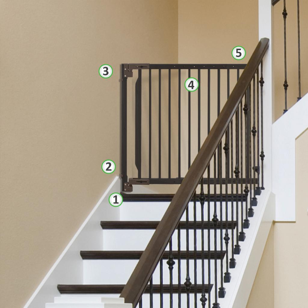 Best ideas about Dog Gate For Stairs . Save or Pin Amazon Richell Expandable Walk Thru Pet Gate Now.
