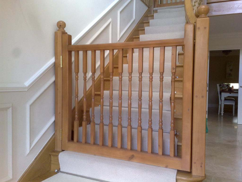 Best ideas about Dog Gate For Stairs . Save or Pin Dog Gate for Stairs Indoor Wooden Dog Gate For Stairs Now.