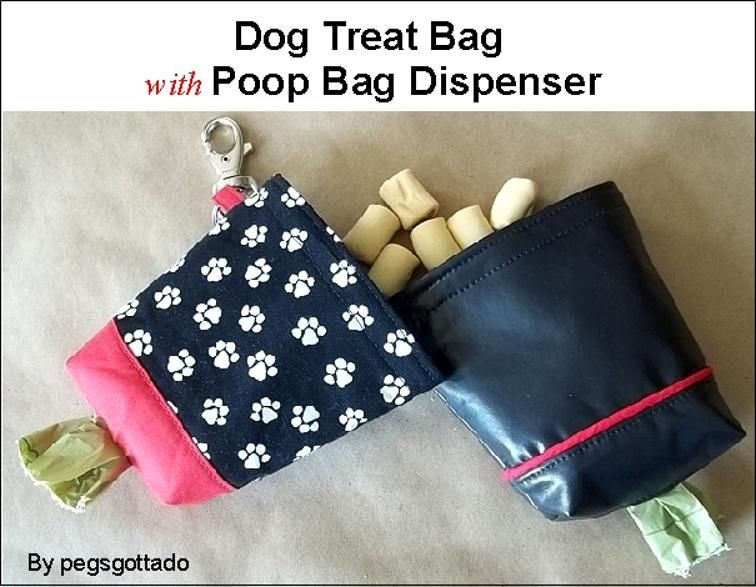 Best ideas about Dog Treat Pouch DIY . Save or Pin Dog Treat Bag with Poop Bag Dispenser Pattern Now.