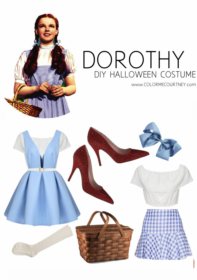 Best ideas about Dorothy Costume DIY . Save or Pin Easy DIY Halloween Costumes Dorthy from Wizard of Oz Now.
