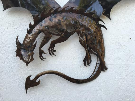 Best ideas about Dragon Wall Art . Save or Pin Dragon metal dragon wall art art decor Now.