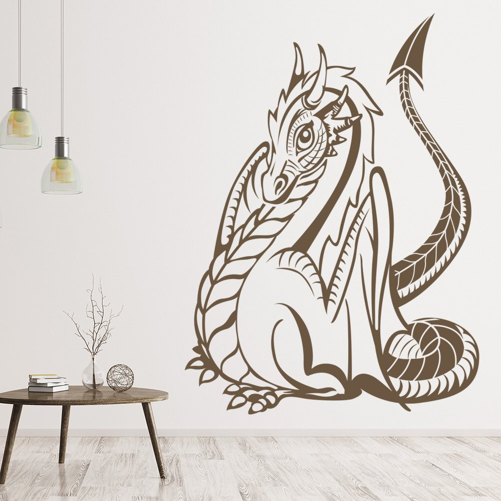 Best ideas about Dragon Wall Art . Save or Pin Dragon Wall Sticker Fantasy Monster Wall Decal Kids Now.