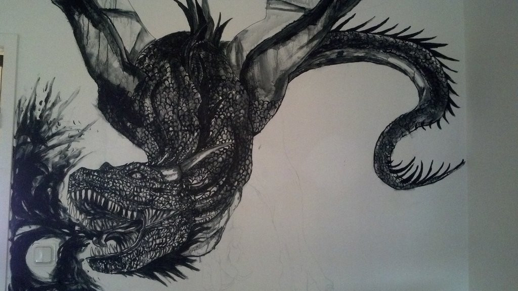Best ideas about Dragon Wall Art . Save or Pin Dragon wall art by YumeTatsu on DeviantArt Now.