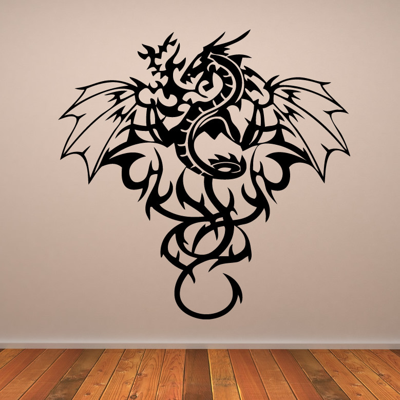 Best ideas about Dragon Wall Art . Save or Pin Full Dragon Mythical Creatures Wall Art Stickers Wall Now.