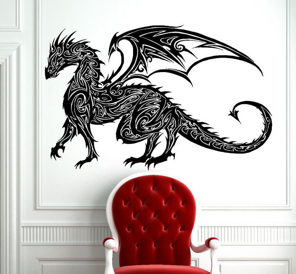 Best ideas about Dragon Wall Art . Save or Pin Tribal Tattoo Classic Chinese Dragon Wall Decal Sticker Now.
