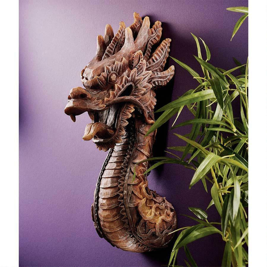 Best ideas about Dragon Wall Art . Save or Pin Chinese Emperor s Fire Dragon Wall Sculpture Asian Symbol Now.