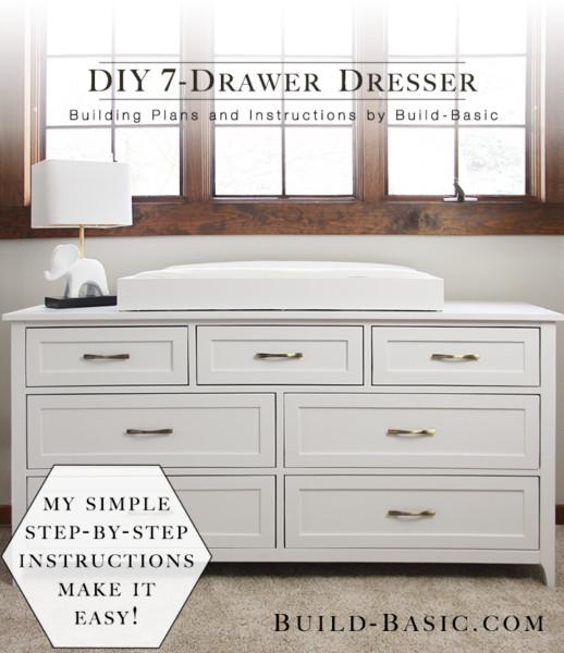 Best ideas about Dresser Plans DIY . Save or Pin Build a DIY 7 Drawer Dresser ‹ Build Basic Now.