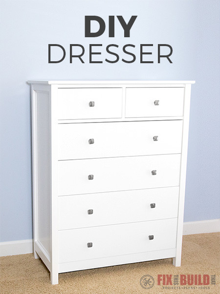 Best ideas about Dresser Plans DIY . Save or Pin How to Build a DIY Dresser 6 Drawer Tall Dresser Now.