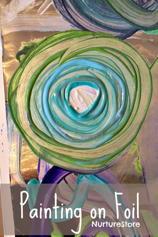 Best ideas about Easy Art For Preschoolers . Save or Pin Simple art ideas painting on foil NurtureStore Now.