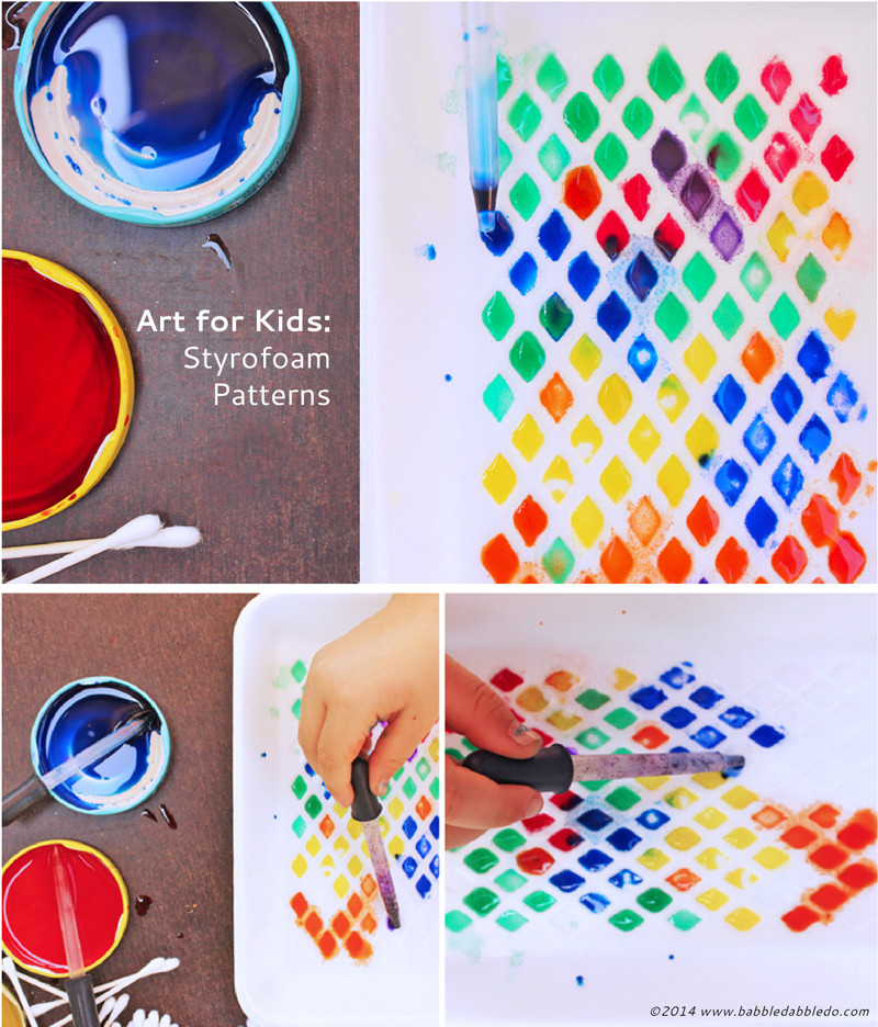 Best ideas about Easy Art For Preschoolers . Save or Pin Art Activities for Kids Styrofoam Patterns Now.