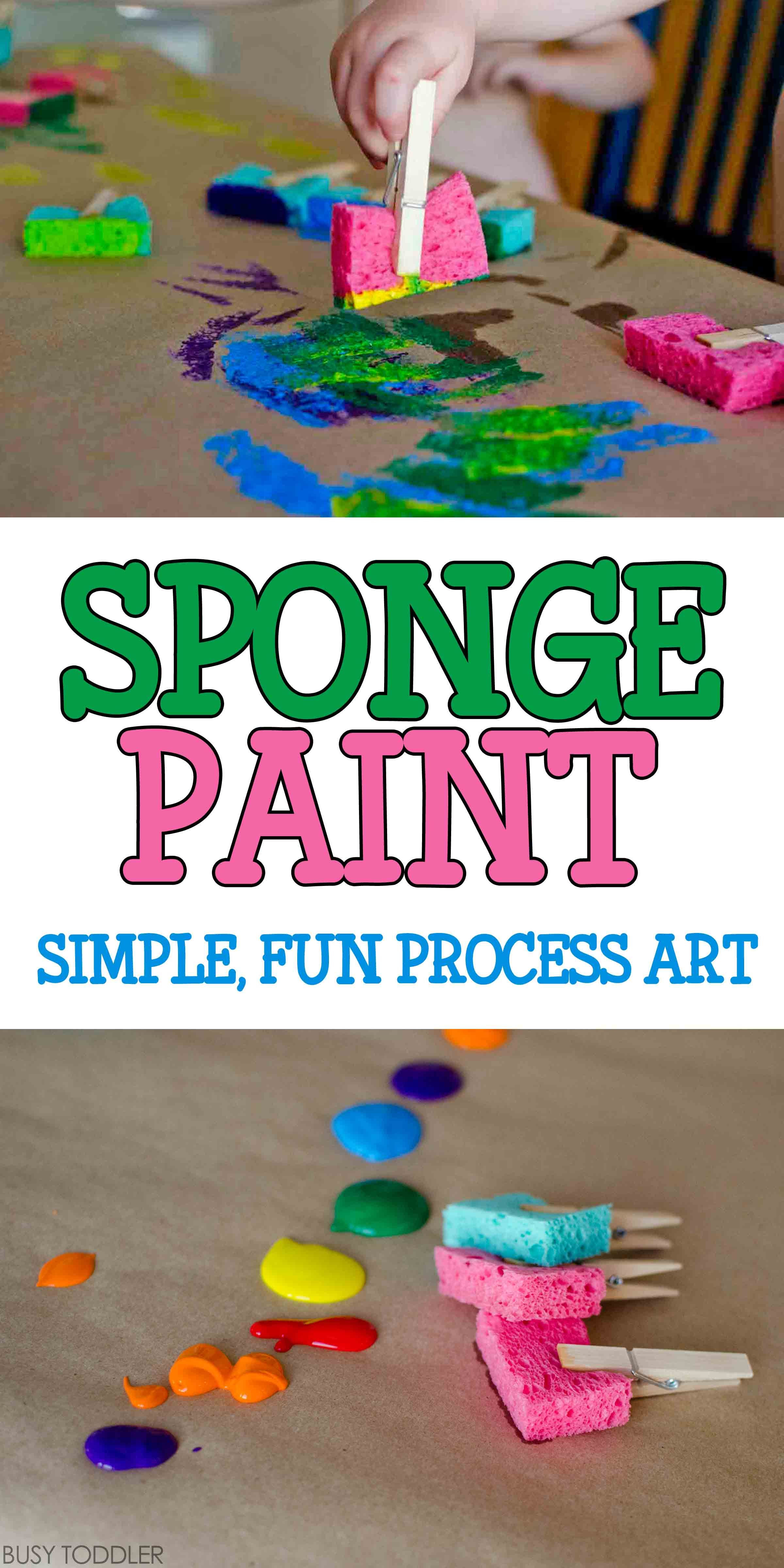 Best ideas about Easy Art For Preschoolers . Save or Pin Sponge Painting Process Art BUSY TODDLER Now.