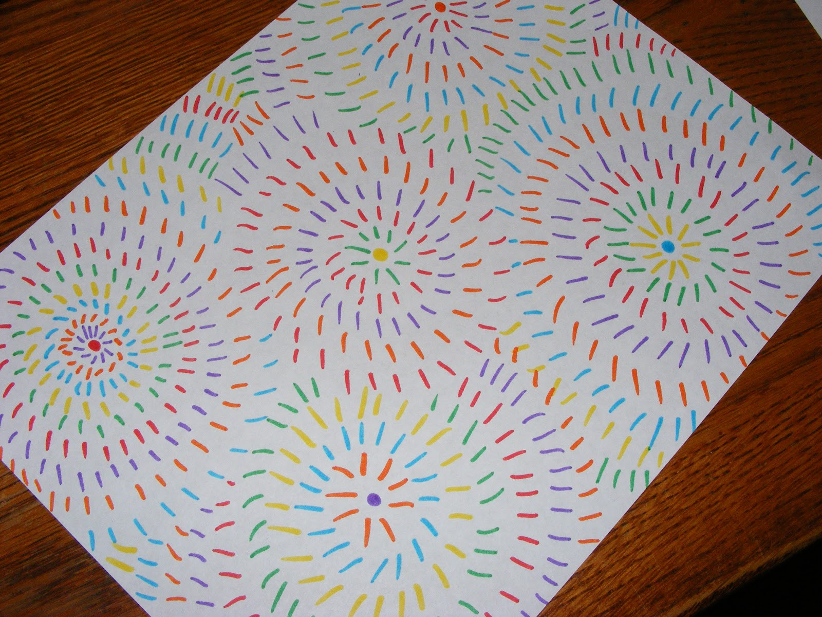 Best ideas about Easy Art Projects For Kids . Save or Pin Ten kids and a Dog Easy Art Firework drawings Now.