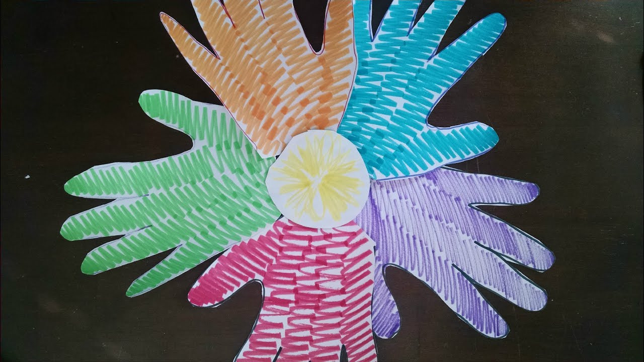 Best ideas about Easy Arts And Crafts For Toddlers . Save or Pin Easiest ARTS and CRAFTS for Kids Easy Handprint Flower Now.