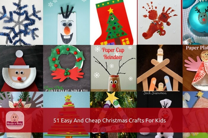 Best ideas about Easy Cheap Crafts For Kids . Save or Pin 51 Christmas Crafts for Kids to Make Easy and Cheap Ideas Now.