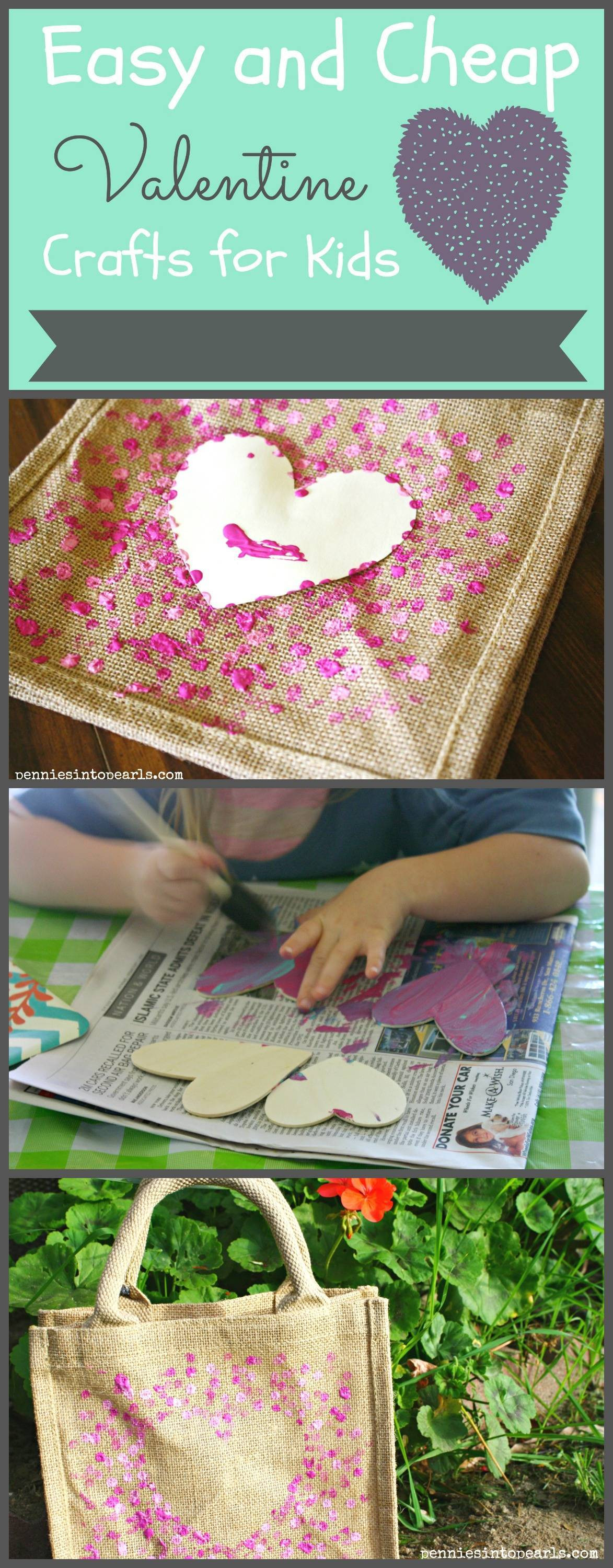 Best ideas about Easy Cheap Crafts For Kids . Save or Pin Easy and Cheap Kids Valentine Crafts Pennies into Pearls Now.