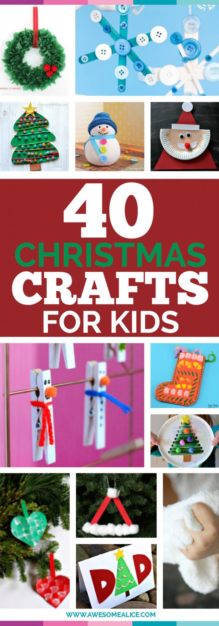 Best ideas about Easy Cheap Crafts For Kids . Save or Pin Top 40 Easy And Fun Christmas Crafts For Kids to Make Now.