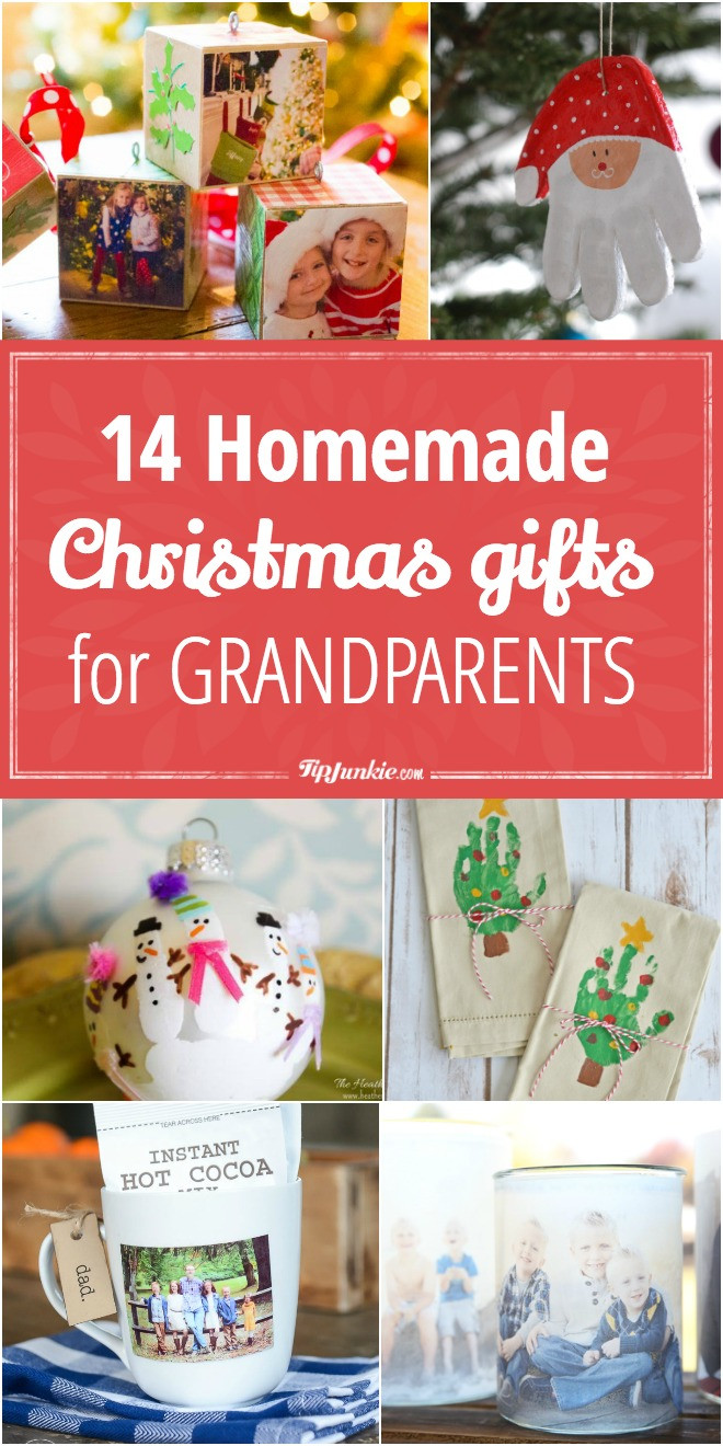 Best ideas about Easy Christmas Craft Gift . Save or Pin 14 Homemade Christmas Gifts for Grandparents Now.