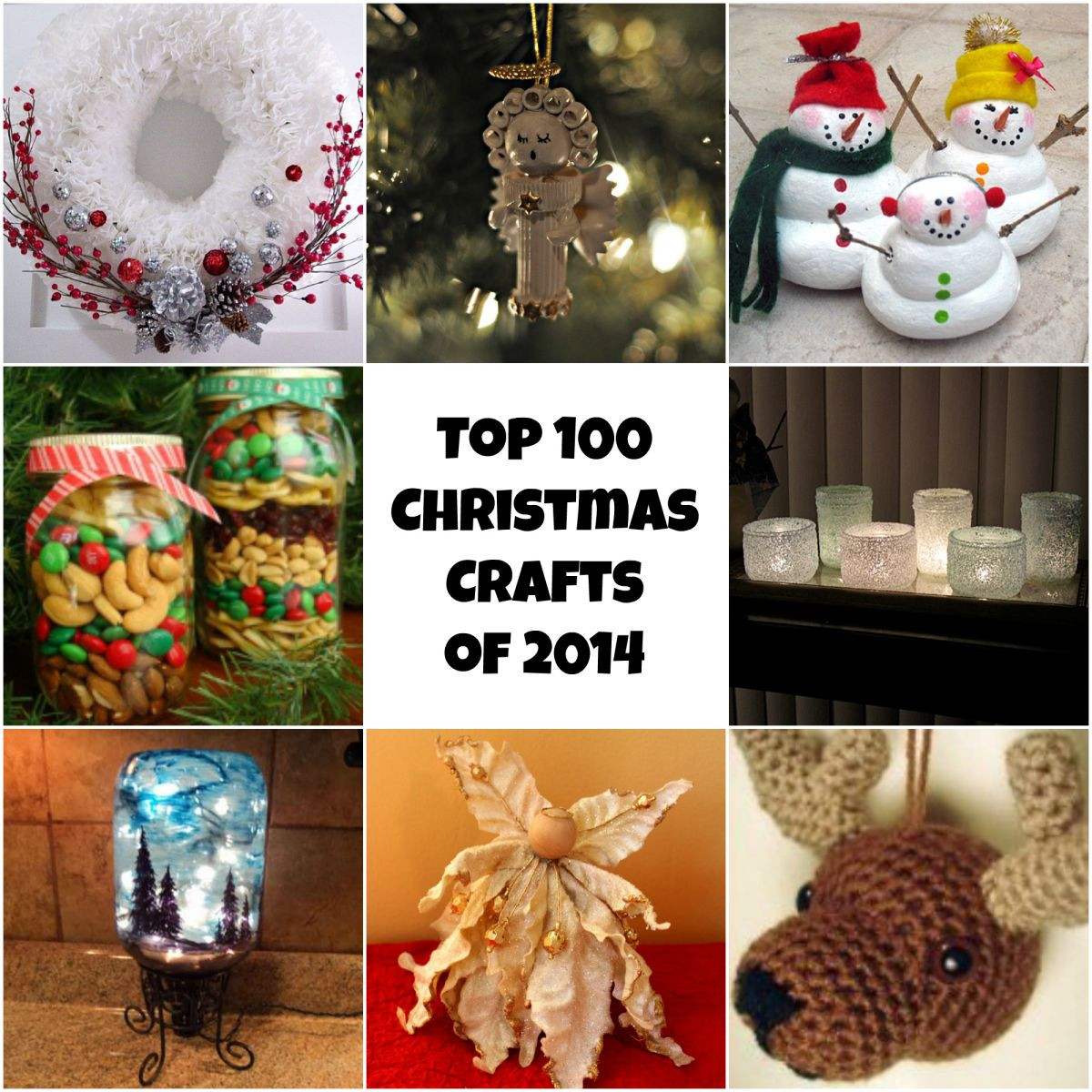 Best ideas about Easy Christmas Craft Gift . Save or Pin Top 100 DIY Christmas Crafts of 2014 Homemade Christmas Now.