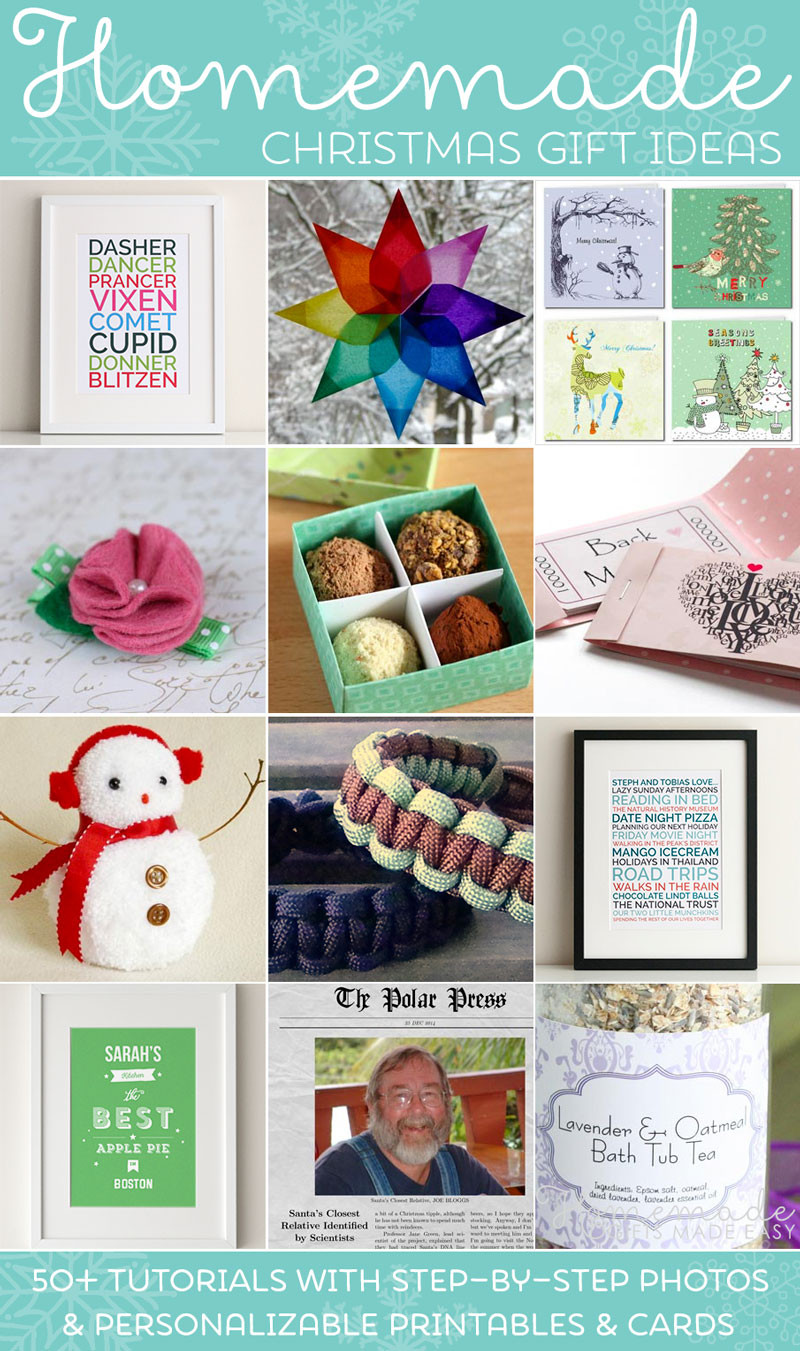 Best ideas about Easy Christmas Craft Gift . Save or Pin Easy Homemade Christmas Gift Ideas Make Inexpensive Now.