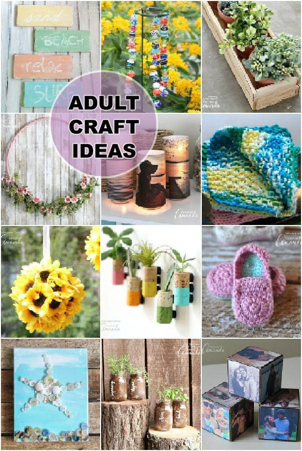 Best ideas about Easy Craft Ideas For Adults . Save or Pin Adult Craft Ideas lots of crafts for adults Now.