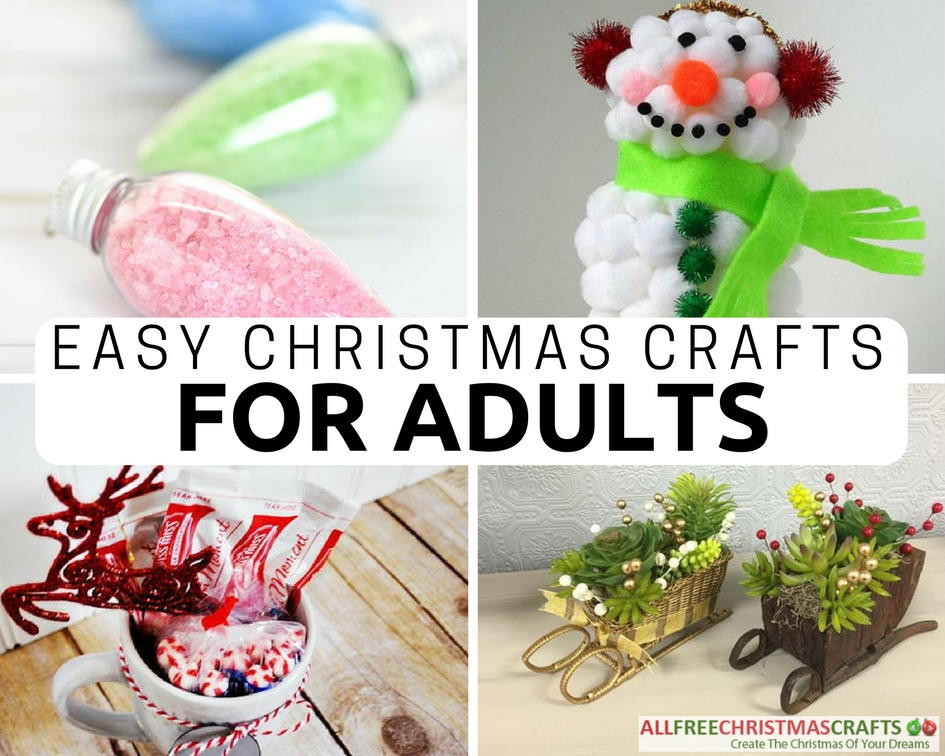 Best ideas about Easy Craft Ideas For Adults . Save or Pin 36 Really Easy Christmas Crafts for Adults Now.