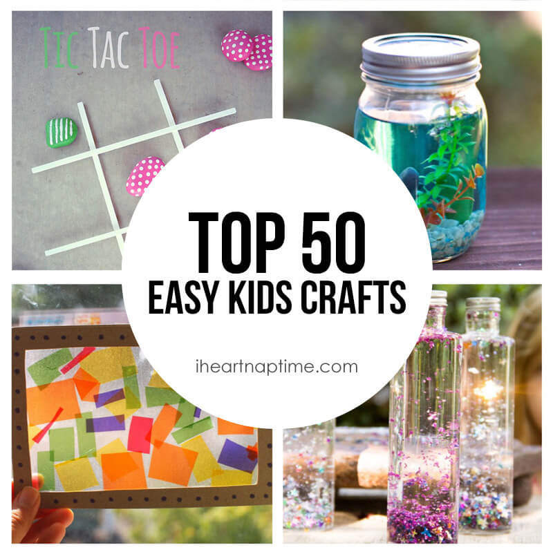 Best ideas about Easy Craft Ideas For Kids . Save or Pin 50 Fun & Easy Kids Crafts I Heart Nap Time Now.
