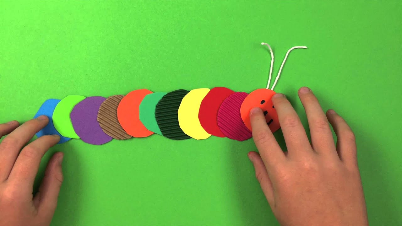 Best ideas about Easy Craft Ideas For Kids . Save or Pin How to make a Caterpillar simple preschool arts and Now.