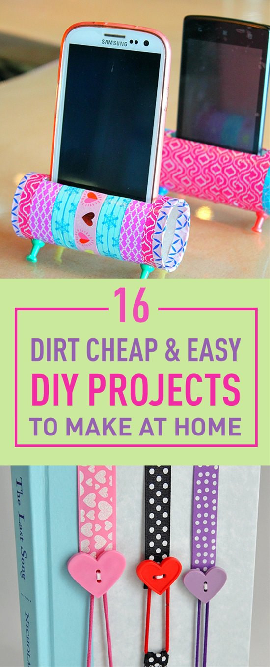 Best ideas about Easy Craft Ideas For Kids To Make At Home . Save or Pin 16 Dirt Cheap & Easy DIY Projects To Make At Home Now.