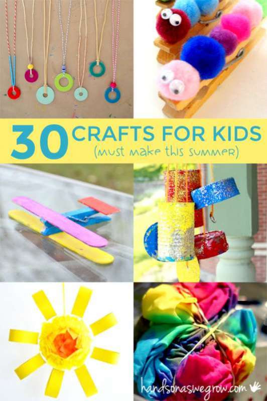 Best ideas about Easy Craft Ideas For Kids To Make At Home . Save or Pin 30 Summer Crafts for Kids to Make hands on as we grow Now.