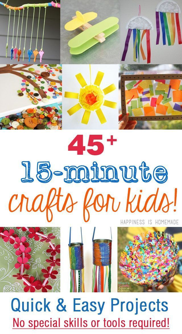 Best ideas about Easy Craft Projects For Kids . Save or Pin 45 Quick & Easy Kids Crafts that ANYONE Can Make Now.