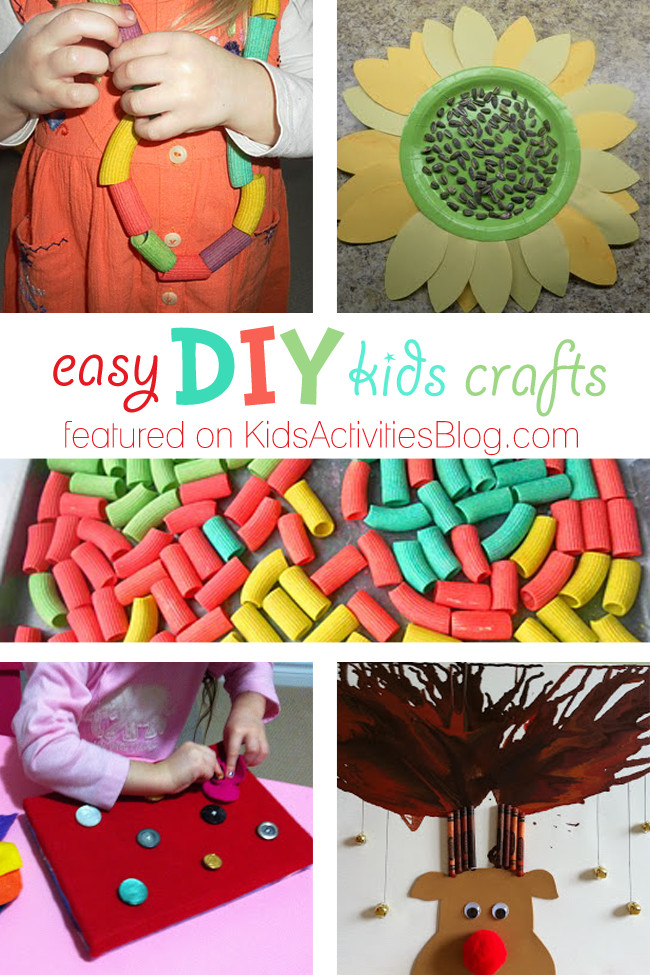 Best ideas about Easy Crafts For Kids To Make At Home . Save or Pin 5 Easy DIY Kids Crafts Simple Things to Do at Home Now.