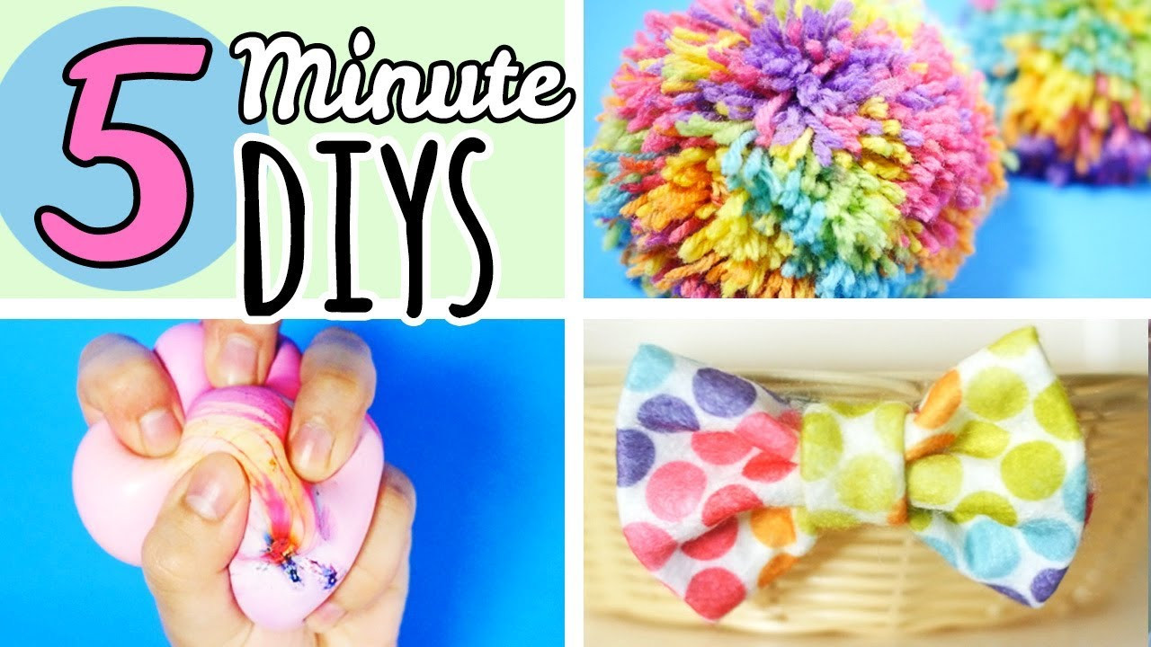 Best ideas about Easy Crafts For Kids To Make At Home . Save or Pin 5 Minute Crafts To Do When You re Bored Now.