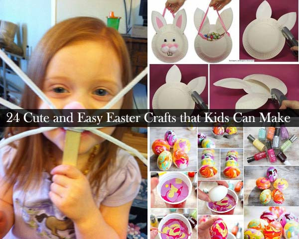 Best ideas about Easy Crafts For Kids To Make At Home . Save or Pin 24 Cute and Easy Easter Crafts Kids Can Make Now.