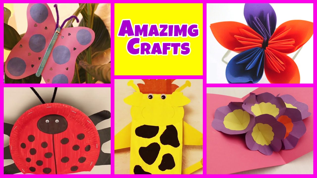 Best ideas about Easy Crafts For Kids To Make At Home . Save or Pin Amazing Arts and Crafts Collection Now.