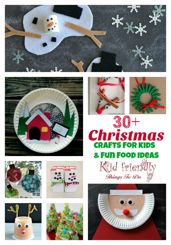Best ideas about Easy Crafts For Kids To Make At Home . Save or Pin Over 30 Easy Christmas Fun Food Ideas & Crafts Kids Can Make Now.