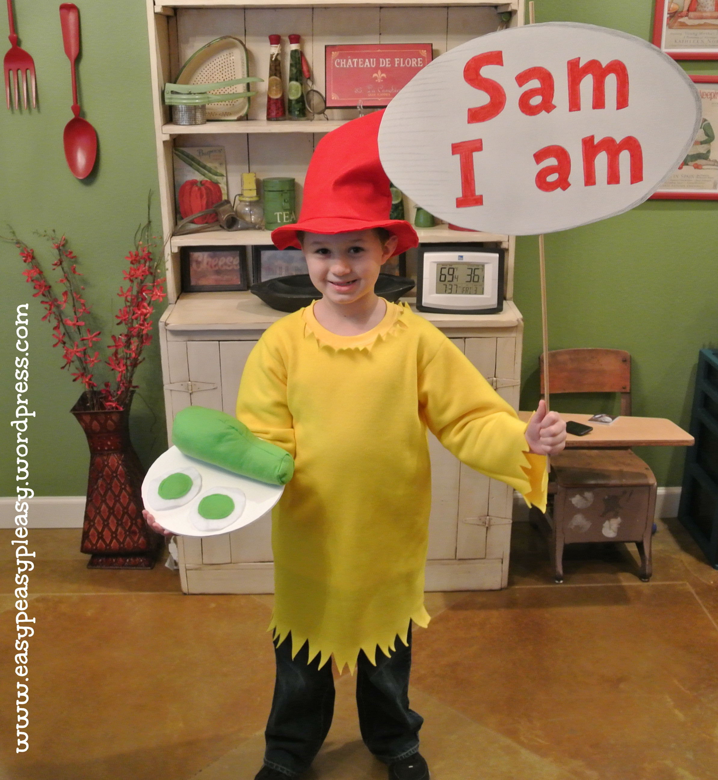 Best ideas about Easy DIY Dr Seuss Costumes . Save or Pin All Things Dr Seuss Sam I am Costume Easy Peasy Pleasy Now.