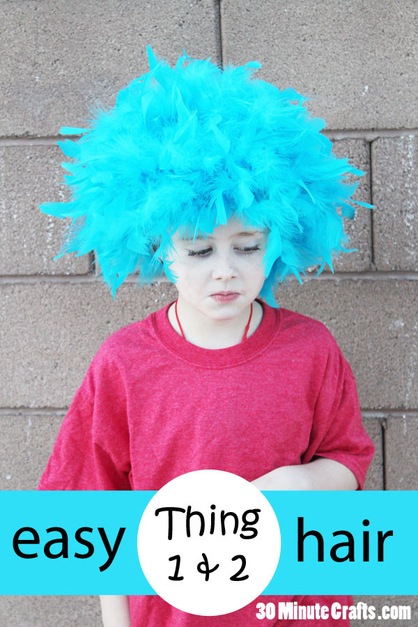 Best ideas about Easy DIY Dr Seuss Costumes . Save or Pin Simple DIY Thing 1 and Thing 2 Hair 30 Minute Crafts Now.