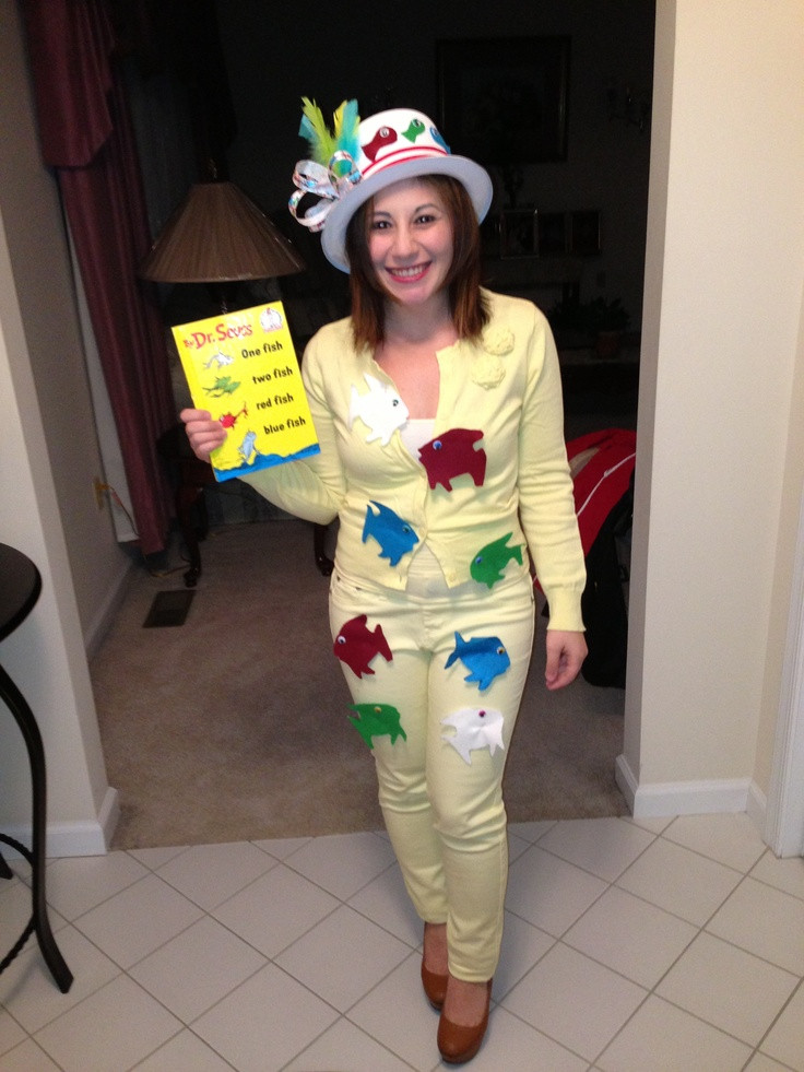 Best ideas about Easy DIY Dr Seuss Costumes . Save or Pin Dr Seuss one fish two fish homemade costume Kat Ellis Now.