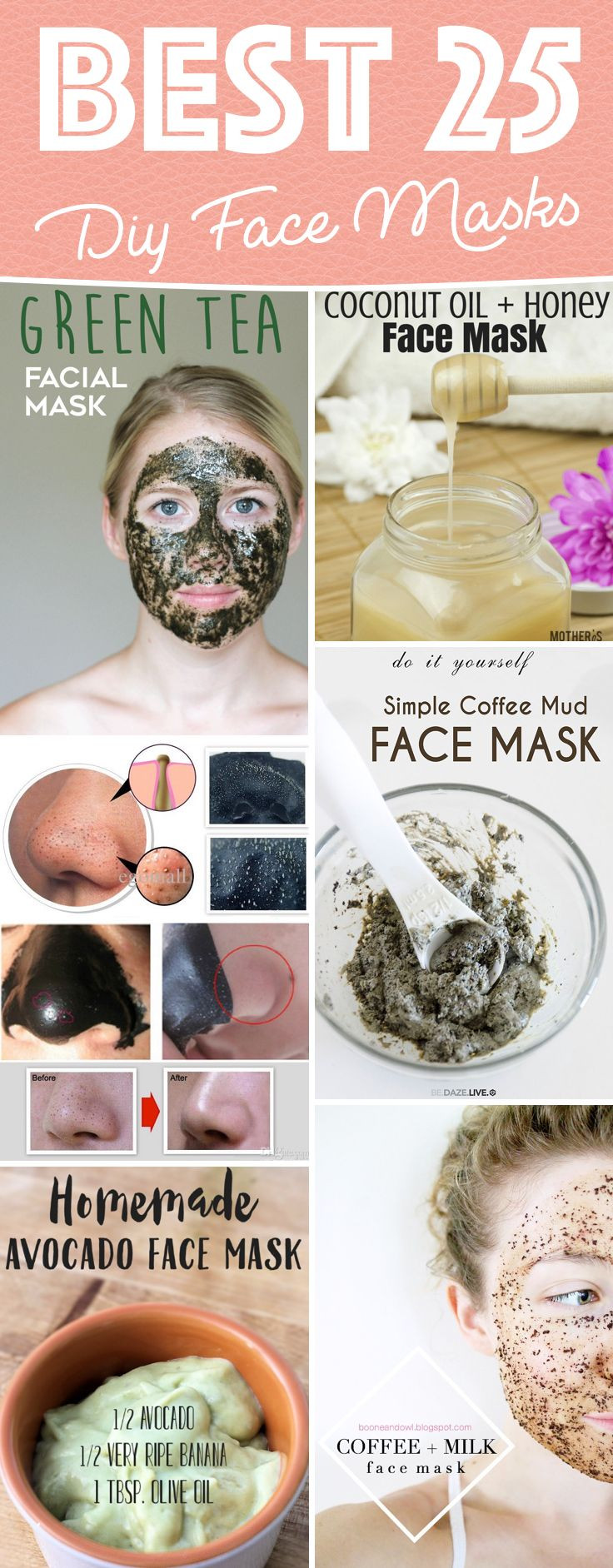 Best ideas about Easy DIY Face Masks . Save or Pin 25 best ideas about Homemade Face Masks on Pinterest Now.
