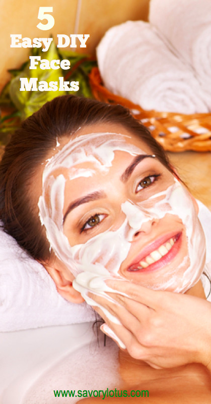 Best ideas about Easy DIY Face Masks . Save or Pin 5 Easy DIY Face Masks Savory Lotus Now.