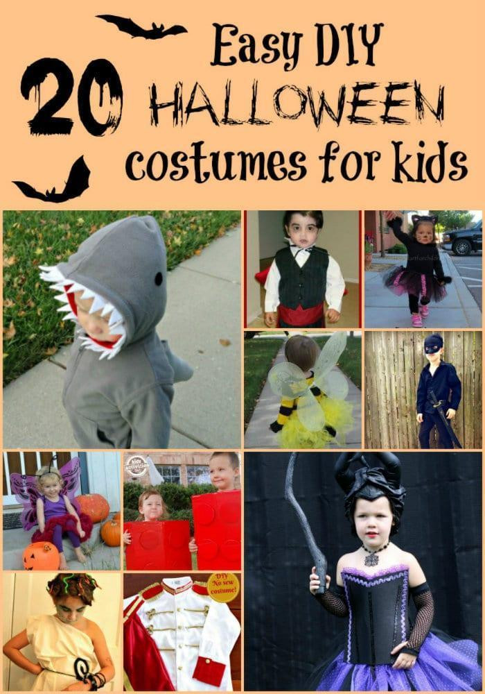 Best ideas about Easy DIY Halloween Costumes For Kids . Save or Pin 20 Easy DIY Halloween Costume Ideas for Kids Now.