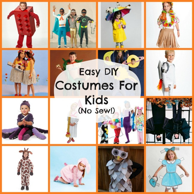Best ideas about Easy DIY Halloween Costumes For Kids . Save or Pin 16 DIY Easy Costumes For Kids No Sew Now.